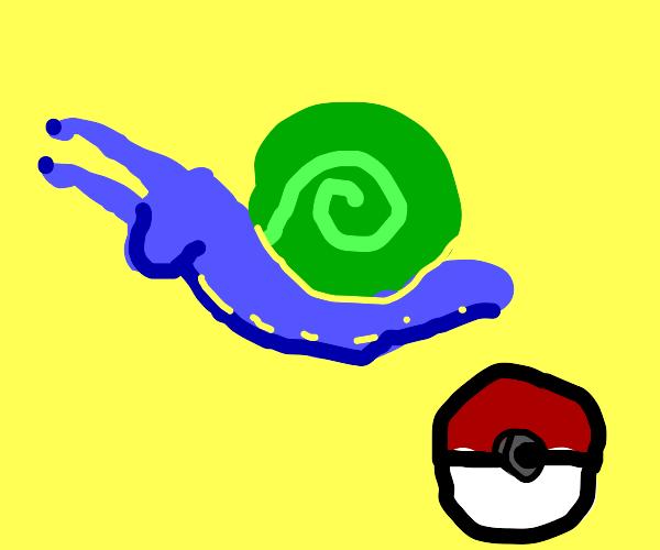 I catch a Pokemon snail