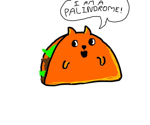 I AM A PALINDROME! (Taco cat)