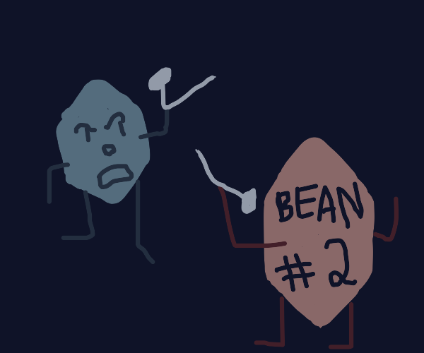 Two hexapodal beans wield nails in combat
