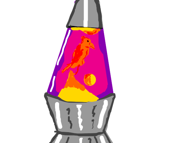 Raven in a Lava Lamp