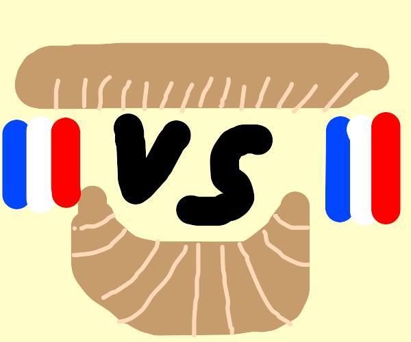 baguette vs croissant