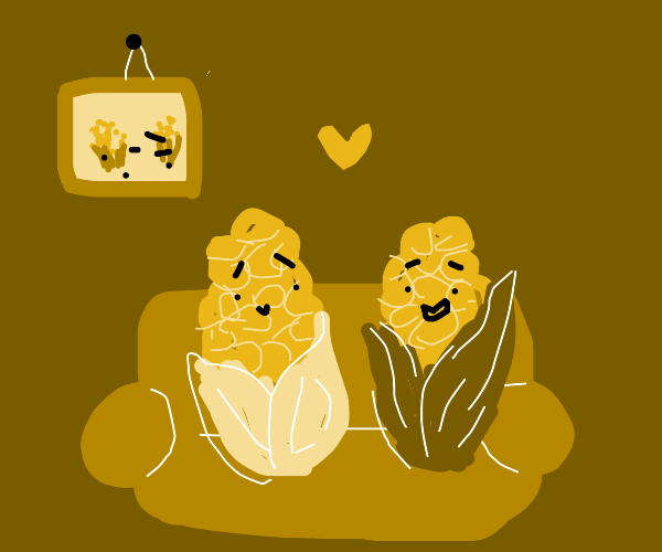 """ears of corn want to """"cuddle"""""""