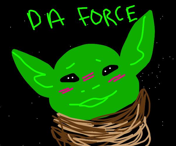 Baby Yoda blushes