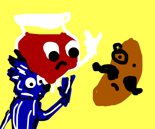 Sonic and the Kool-Aid man reject Mr. Pringle