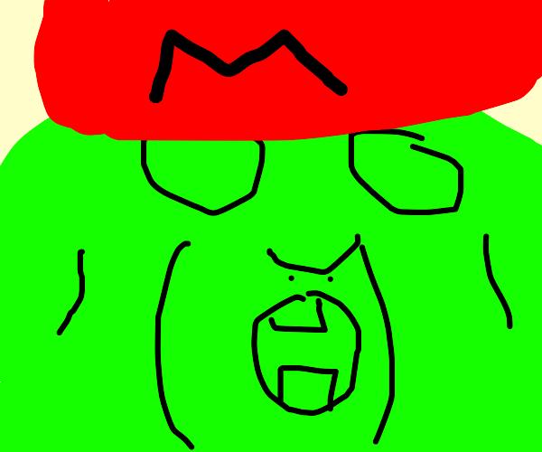Cursed mario shrek