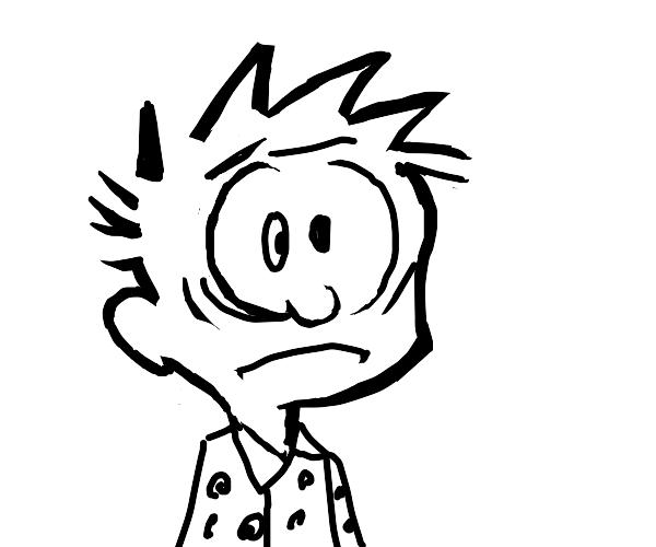 Calvin is so shocked he won't sleep in days