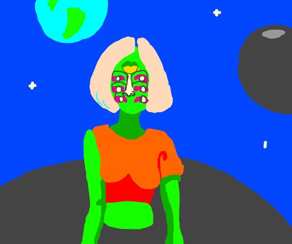 Alien chick