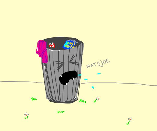 Garbage can sneezing
