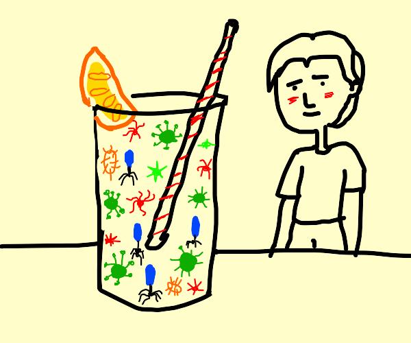 A sweet glass of lemon-flavored viruses.