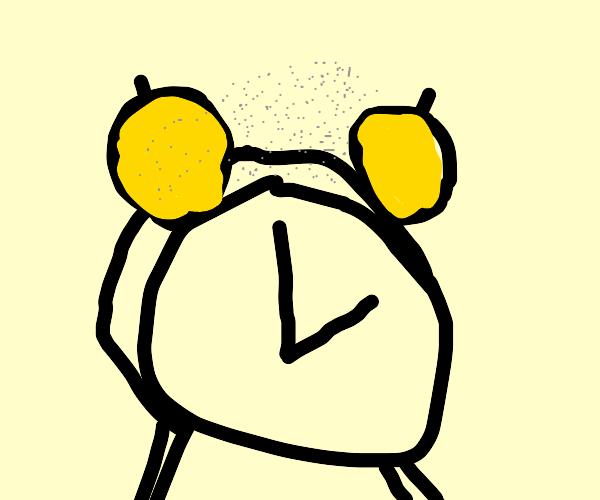 Powdery Alarm Clock