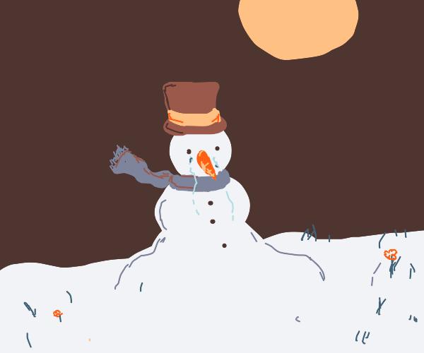 sad snowman :(