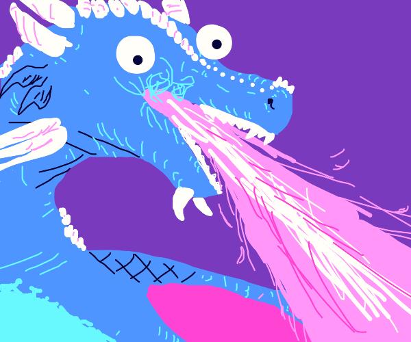 beautiful dragon w/ googly eyes breathin fire