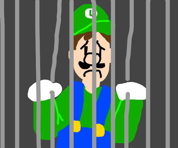 luigi behind bars