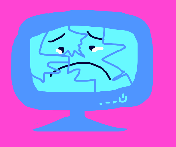 Sad cracked screen