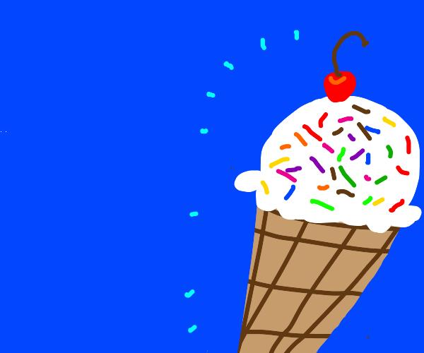 icecream with sprinkles