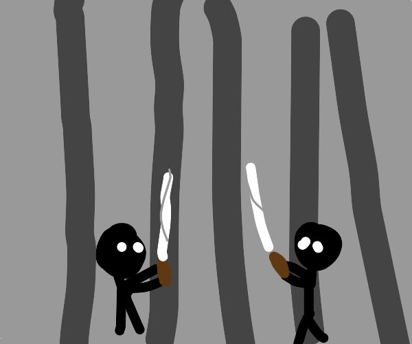 Colosseum sword fight