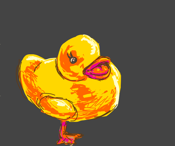 One legged duck