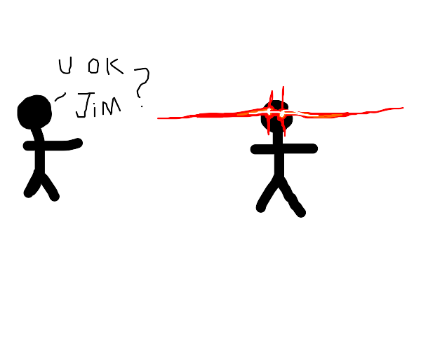 angry stickman with red eyes