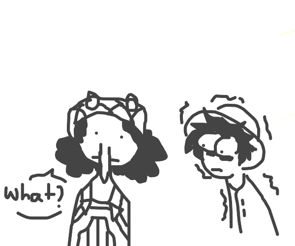 usopp but his nose drooped