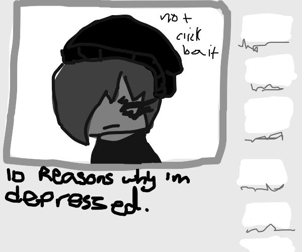 Video of depressed lady