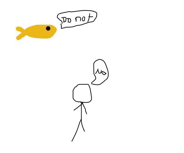 Man violates fish
