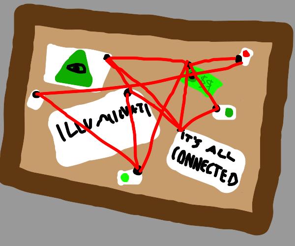 Eye on money?? Green?? Illuminati???