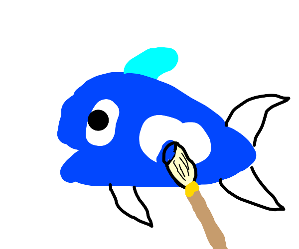 painting a fish