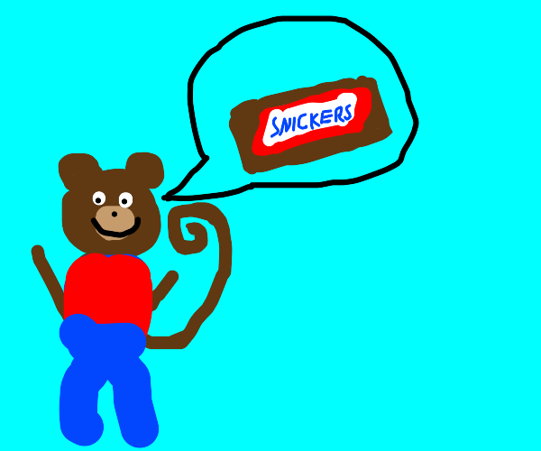 monkey man wants snickers