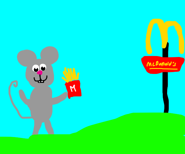 mouse goes to mcdonalds