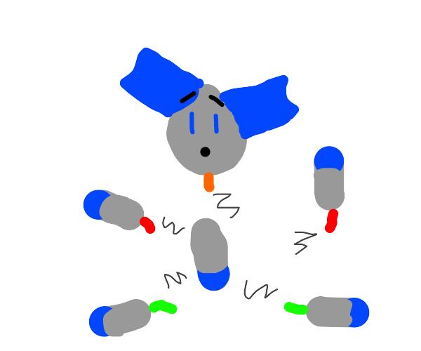 Robo boy got torn apart