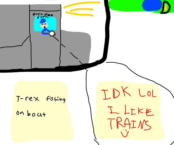Train driver derails game