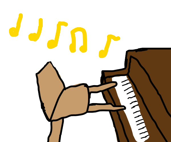 Chair plays the piano