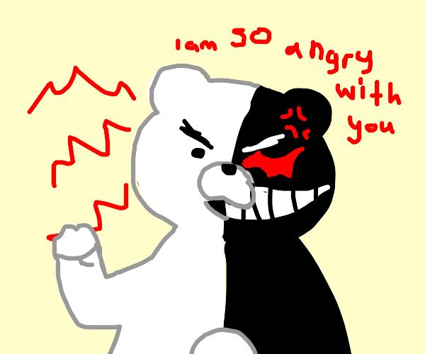 Teddy bear is angry