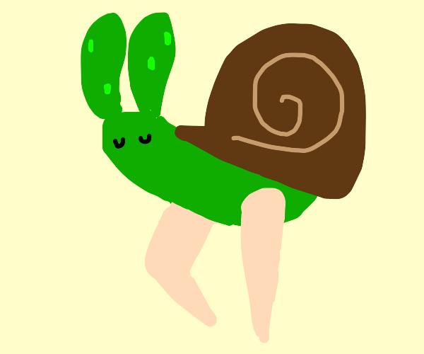 Snail with human legs again