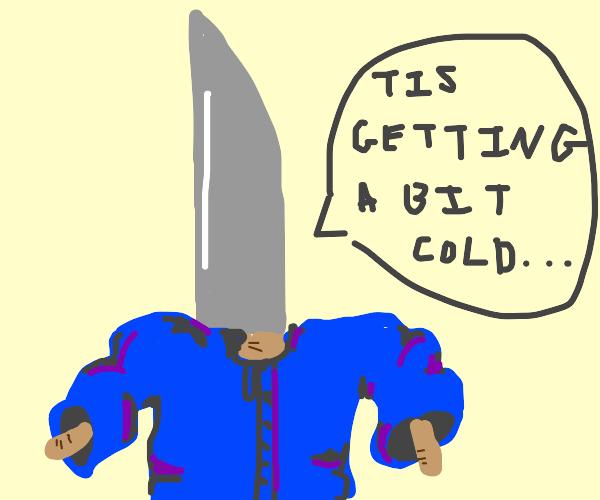 Knife wearing a Coat