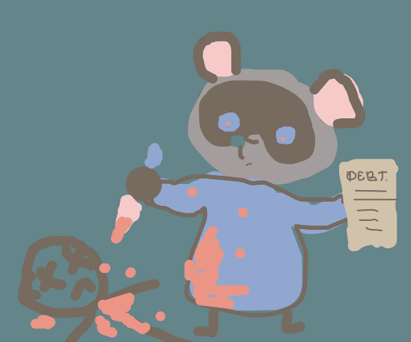 Tom Nook kills a man for not paying debt