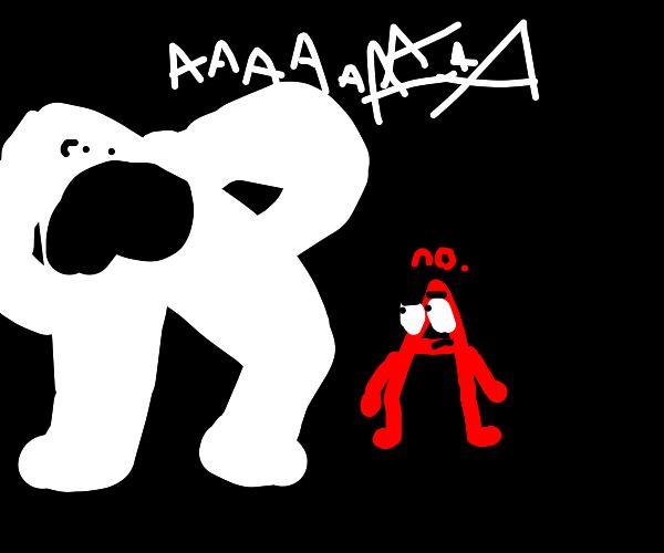 white AAAAAAAAAAAAAAAAAAAAAAAAAAA and a red A
