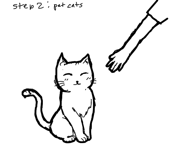 Step 1: Adopted All The Cats