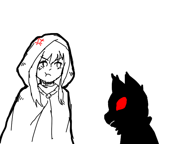 red riding hood is mad at the wolf