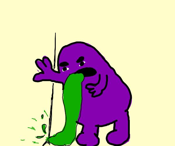 grimace puking