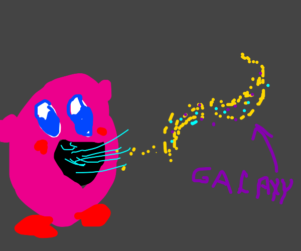 kirby consumes a galaxy