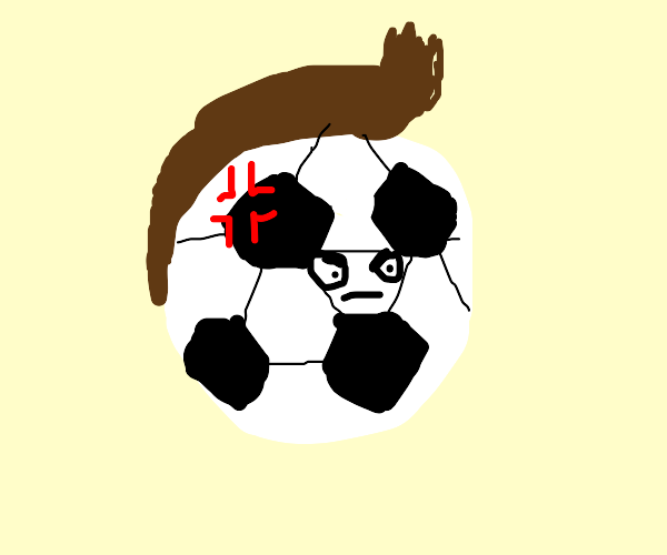 Angry football grows a mullet