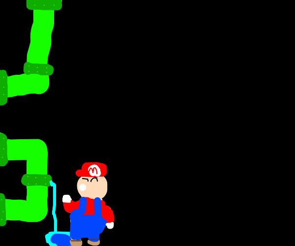 Mario at his real job