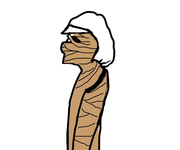 a mummy with a super funky fresh hat
