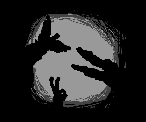 Shadow figure