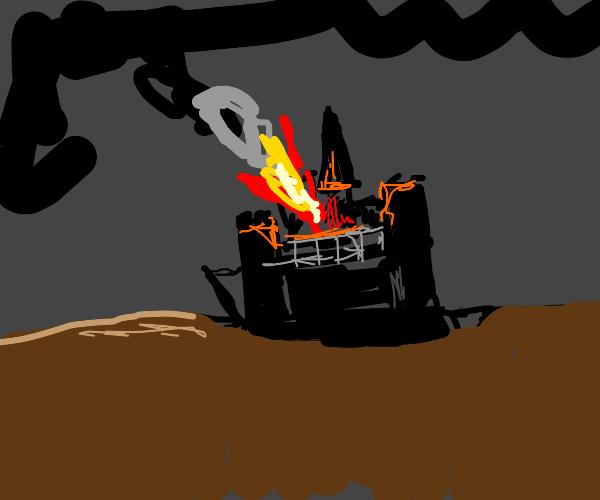 Meteor destroys castle