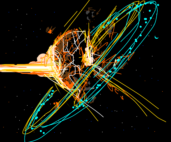 Planet exploding