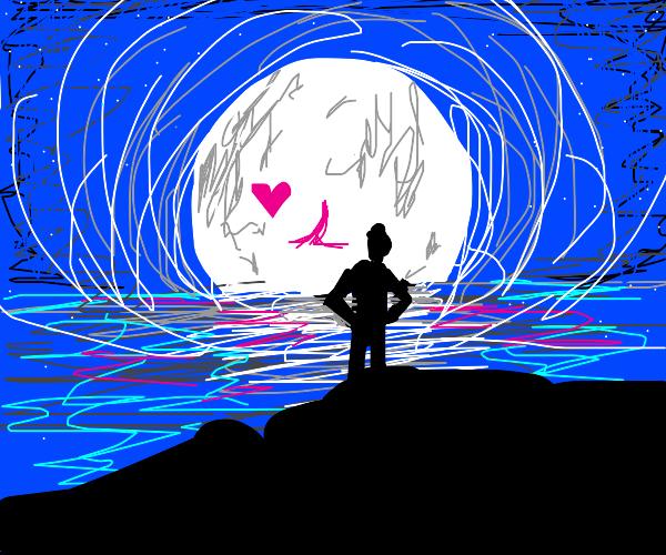 """My heart belongs to the moon."""