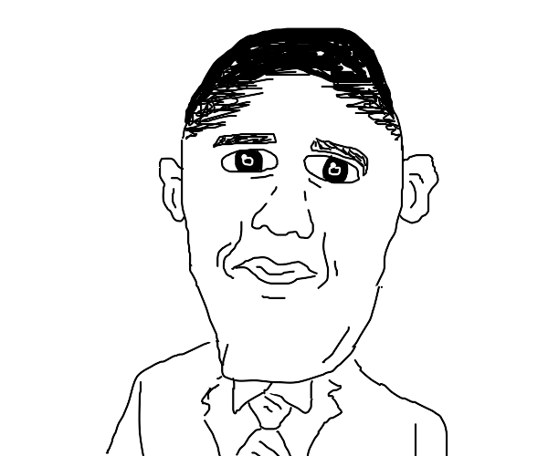 Obama with a really big chin
