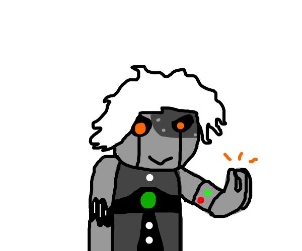 Demonic Robot Man does the Italian hand thing